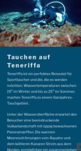 Screenshot www.tauchen-teneriffa.net